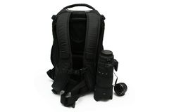 Photo backpack Stock Images