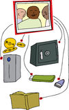 Photo Backup Diagram Stock Photos