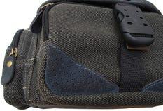 Photo bag. Black photo bag isolated on white Stock Photo