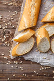 Photo of baguette on table Royalty Free Stock Images
