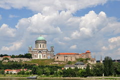 Photo of Basilica Esztergom fromlevel Danube river Stock Image
