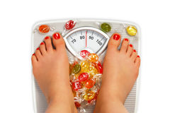Photo of bathroom scale Royalty Free Stock Photo