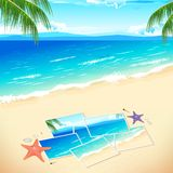 Photo on Beach. Illustration of pieces of photograph on sea beach Stock Image
