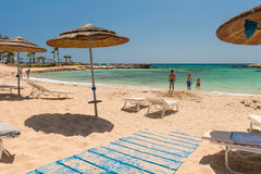 Photo of beach. Aya Napa. Cyprus. Stock Images