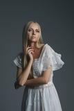Photo of beautiful blonde girl Stock Photos
