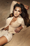 Photo of beautiful brunette girl. Royalty Free Stock Image