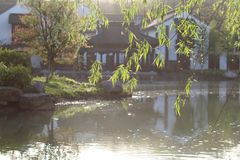 Calm morning in south river of city SUZHOU China Stock Photography