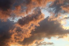 Photo of beautiful clouds Stock Photography