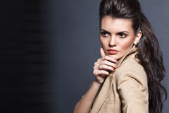 A photo of beautiful girl. Is in fashion style, glamur Stock Photos
