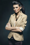 A photo of beautiful girl. Is in fashion style, glamur Royalty Free Stock Photos