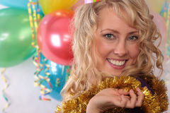 Photo of the beautiful girl during the carnival Royalty Free Stock Photography