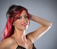 A photo of beautiful girl is in fashion style Royalty Free Stock Photo