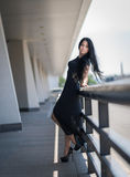 Photo of beautiful lady in evening dress. Stock Photography