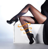 Photo of the beautiful legs in nice stockings Stock Image