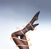 Photo of the beautiful legs in nice stockings Royalty Free Stock Image