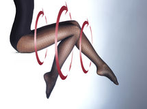 Photo of the beautiful legs in nice stockings Stock Photos