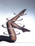 Photo of the beautiful legs in nice stockings Stock Photography