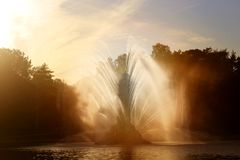 Photo of a beautiful macro fountain VDNH Moscow Stock Photography