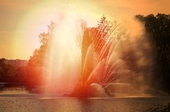 Photo of a beautiful macro fountain VDNH Moscow Stock Image