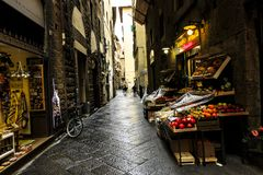 Market in Florence, Italy stock photography