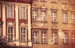 photo of beautiful old vintage buildings in Wroclaw Stock Image