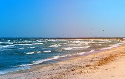 Photo of a beautiful sea with waves Royalty Free Stock Image