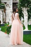 Photo of beautiful sexy woman in elegant dress. Photo of beautiful sexy woman in elegant dress Stock Image