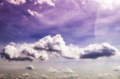 Beautiful sky with huge clouds stock photos