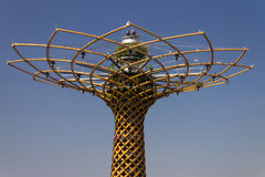 Photo of the beautiful Tree of Life (Albero della vita in Italian), the symbol of Expo 2015 Stock Photo