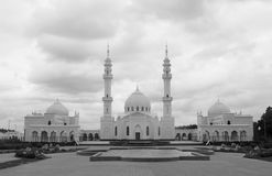 Photo attraction of beautiful unusual White Mosque royalty free stock image