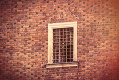 photo of beautiful vintage old window in Wroclaw Stock Images