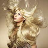 Photo of beautiful woman with magnificent hair Stock Image
