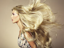 Photo of beautiful woman with magnificent hair Stock Photos