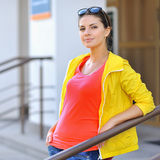 Photo of beautiful young woman. Stylish clothes Royalty Free Stock Photography