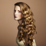 Photo of  beautiful young woman. Vintage style Royalty Free Stock Image