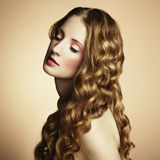 Photo of  beautiful young woman. Vintage style Stock Images