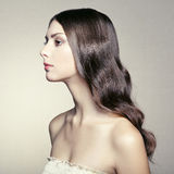 Photo of beautiful young woman. Vintage style Royalty Free Stock Images