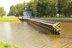 Photo of beginning of water navigation to water lock on river La Royalty Free Stock Photos