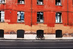 Photo of Bicycle on the Pavement Stock Image