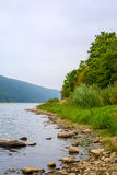 Photo of big river, view from beach Royalty Free Stock Images