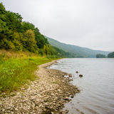 Photo of big river, view from beach Royalty Free Stock Photography