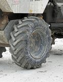 Big truck heavy plant tyre Stock Photography