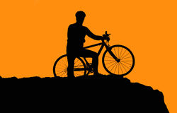 Photo of biker silhouette Royalty Free Stock Photo