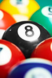 Photo billiard balls close up.  Royalty Free Stock Photography