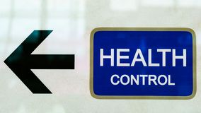 Black arrow bring to health control office. Photo of black arrow bring to health control office royalty free stock photo