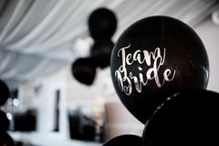 Black balloons on the blur background royalty free stock images