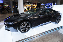 Photo of black BMW series i8 innovation car Royalty Free Stock Photo