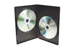 Photo of a black CD holder Stock Photography