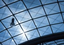 Photo of Black Frame Glass Ceiling during Daytime Stock Photography