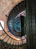 Photo of Black Mesh Spiral Stairs stock images